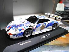 PORSCHE 911 GT1 Le Mans 1996 Präsentation Mobil 1 Warsteiner Minichamps 1:43