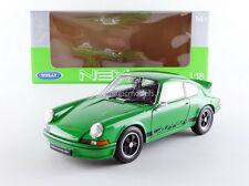 Welly 1973 Porsche 911 Carrera RS Green with Black Stripe 1/18 Scale New!