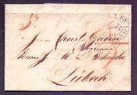 Vorphilabrief Bremen 1825 mit großem Schlüssel-Stempel nach Lübeck (793)