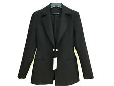 ZARA BLACK TAILORED JACKET WITH TWIN PEARL BUTTONS SS17 SIZES S & M NEW TAGS