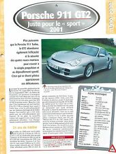 Porsche 911 GT2  2001  GERMANY DEUTSCHLAND ALLEMAGNE Car Auto FICHE FRANCE