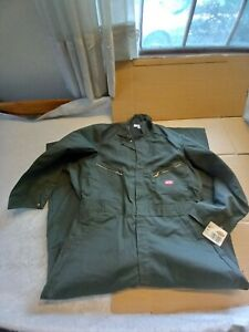 """Dickies Mens 46RG (Actual 43x29) Green Coveralls B4879T (pit-pit 24.5"""") --NWT"""