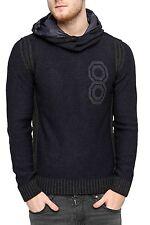 Unifarbene Herren-Pullover & -Strickware mit Kapuze aus Mischwolle