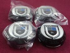 Asanti Wheels Black Label Silver/Gloss Blck Wheel Center Caps Set of 4 # CT-36NB