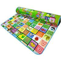 Extra Large Crawl Mat Baby Kid Toddler Playmat Waterproof 2 Side Playmat gym