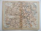 stampa antica mappa antique old map AUSTRIA PLAN D'ENSEMBLE VIENNA VIENNE 1914