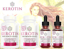 Kerotin 2 Hair Growth Vitamins & 2 Argan Oil KIT - Woman Men Girl Guy Treat Loss