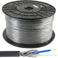 50m – 2 Core Dmx Iluminación esclavo Cable reel/drum – Blindado de plomo de par trenzado fase