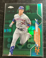 Michael Conforto Green Refractor 6/99 2020 Topps Chrome #35 New York Mets