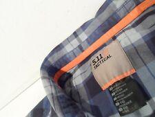5.11 Tactical Men's Peak Long Sleeve Shirt Size Medium Plaid Blue Polo 72469-688