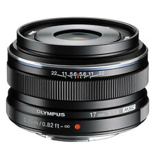 New OLYMPUS 17mm f/1.8 M.ZUIKO Wide Angle Lens for Micro 4/3 Black -Bulk Package