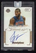 Greg Monroe 2015-16 Flawless REPLAY Auto #1/1 INSCRIPTIONS Milwaukee Bucks HOYAS