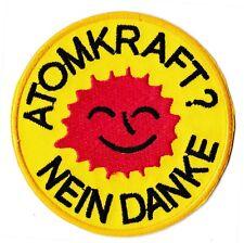 Écusson ecolo patche atomkraft nein danke patch badge thermocollant hotfix