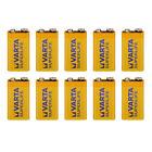 10x VARTA SUPERLIFE Batterie 9V Block 6F22 Zinkchlorid • ideal für Rauchmelder