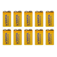 10x VARTA SUPERLIFE Batterie 9V Block 6F22 Zinkchlorid • ideal für Rauchmelder
