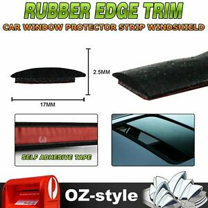 4M Car Roof Window Waterproof Protects Strip Rubber Seal Trim With Self Adhesive