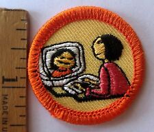 Girl Scout 1997-2001 JUNIOR TECHNOLOGY BADGE Computer Cyber Internet Patch NEW