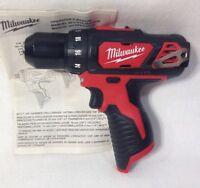 "Milwaukee 2407-20 NEW M12 12V Li-Ion Cordless 3/8"" Drill/Driver - Bare Tool"