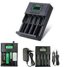 SoShine 4-Slot LCD Universal Battery Power Charger For 26650 18650 16340 AA AAA