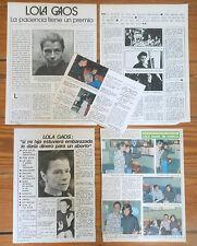 LOLA GAOS coleccion prensa 1970s fotos spanish clippings cine español actriz