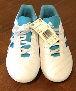 adidas Goletto VII Firm Ground FW1398 Soccer Cleats Women Size 6.5 White/Pink