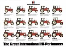 THE INTERNATIONAL CASE COLLECTION TRACTOR SALES BROCHURE/POSTER 80's ADVERT A3