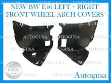NEW BMW E46 3 FRONT L + R WHEEL ARCH LINER SIDE INNER SPLASH GUARD FENDER FLARES