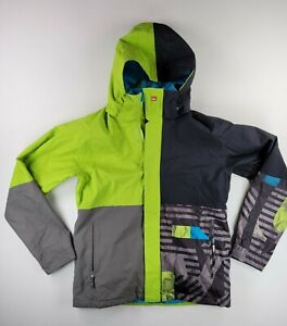 Quiksilver Mens Utility Collection Snowboard Jacket QuikTech Size Small Green