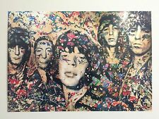"MR. BRAINWASH "" THE ROLLING STONES "" ORIGINAL LITHOGRAPH PRINT POP ART POSTER"