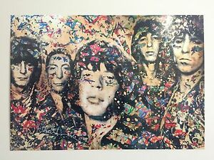 "MR. BRAINWASH "" THE ROLLING STONES "" AUTHENTIC LITHOGRAPH PRINT POP ART POSTER"