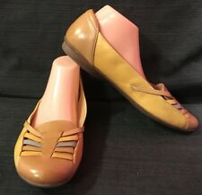 Clarks Size 12 Collection Soft Cushion Mustard  Slipn On Shoes