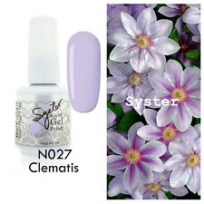SYSTER 15ml Nail Art Soak off Color UV Lamp GEL Polish N027 - Clematis