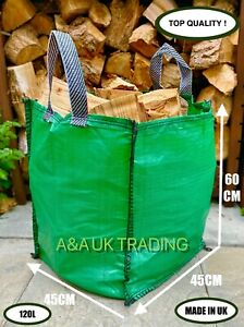 Garden Waste Bag (2 Bags) 120 L Refuse Large Heavy Duty Green Sack Grass Leaves