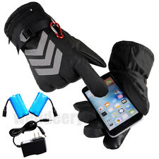 Pair Of Rechargeable Battery Powered Heated Gloves Winter Warm Sports Mittens US