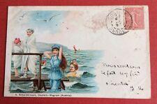 CPA. Baigneuses. Maillots de Bain. Mer. Austria. Années 1900.