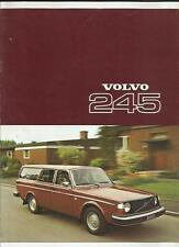 VOLVO 245DL AND 245DLE SALES BROCHURE 1977