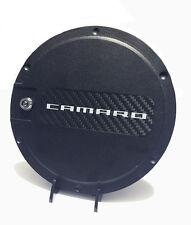 For: CHEVY CAMARO; 901490 FUEL DOOR Locking SILVER Carbon Fiber 2010-2015