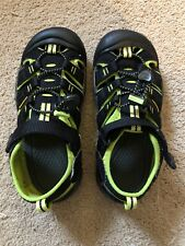Keen Kids Waterproof Sandals Boys Sz 3 (Youth) Black & Green
