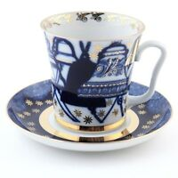 Imperial Lomonosov Porcelain Bells Mug and Saucer LFZ