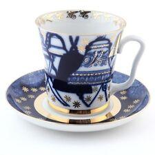 Imperial Lomonosov Porcelain Bells Mug and Saucer LFZ