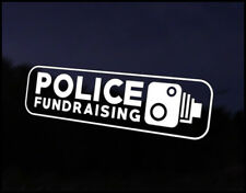 Police Fundraising Car Decal Sticker JDM Vehicle Bike Bumper Graphic Funny
