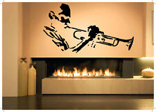 Vinyl Sticker Tuba Player Musician Music Logo Mural Decal Wall Art Decor ZX538