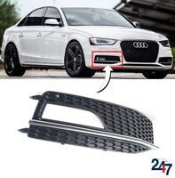 NEW AUDI A4 S4 B8 S LINE 11-15 FRONT BUMPER LOWER FOG LIGHT GRILL COVER RIGHT OS