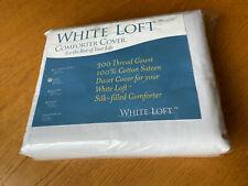 "New White Loft 300 Thread Count 100% Cotton Comforter / Duvet Cover 104"" x 90"""