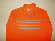 Under Armour Grandezza 1/4 Zip Long Sleeve Orange Shirt Mens Large Excellent