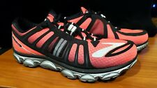 Brooks Womens Pure Flow P2 Running Shoes Pink Black Silver Size 9.5M