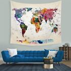 World Map Indian Tapestry Wall Hanging Hippie Mandala Bedspread Dorm Decor Throw