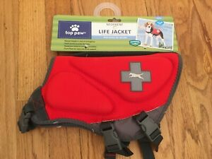 NEW Top Paw Neoprene Adjustable PFD Life Jacket SM 15-30 Lbs 100% to Pet Rescue