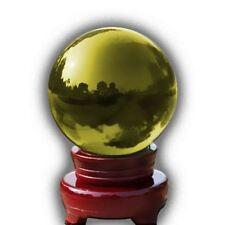 Cristal Bola de mágico curativo Fotografía Colorido Esfera 100mm AMARILLO