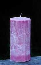200hr PATCHOULI, LAVENDER & VANILLA Triple Scented Natural Pillar CANDLE gifts